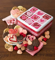 Cheryl's Happy Valentine Gift Tin with Treats
