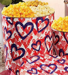 Popcorn Factory Letterpress Hearts 3 Way Tin 3.5G