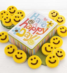 Cheryl's Have a Happy Day Frosted Cookie Tin