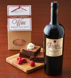 Decadent Wine Brownies & Red Wine