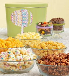 Popcorn Factory Easter Egg Parade 7 Way Snack Tin