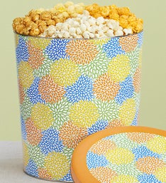 Popcorn Factory Spring Blossoms Popcorn Tin 4 way