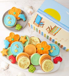 Cheryl's Beach Scene Fancy Cookie Gift Box