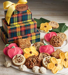 Cheryl's Summer Harvest Plaid Gift Tower