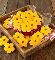 Cheryl's Sunflower Cookie Cut-Outs