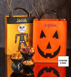 Personalized Trick or Treat Bag with Goodies