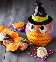 Cheryl's Witch Owl Cookie Jar with Treats