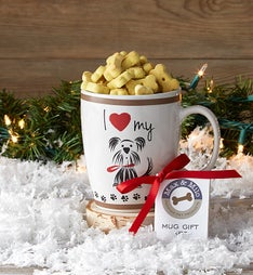 I Love My Dog Mug with Doggie Treats