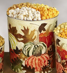 The Popcorn Factory Autumn Falling Popcorn Tin