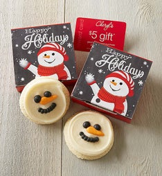 Cheryl's Holiday Snowman Cut-Out Cookie Card