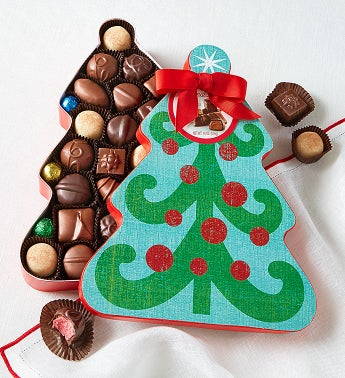 Fannie May® Chocolates Christmas Tree Box
