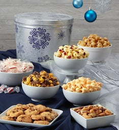 The Popcorn Factory Snowflake Snack Asst Tin 2G