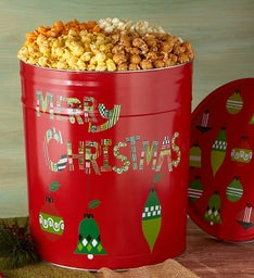 The Popcorn Factory Merry Christmas Popcorn Tin