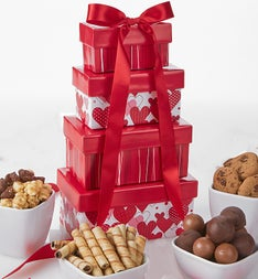Be Mine Valentine Chocolate & Sweets Tower