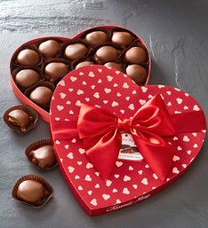 Fannie May Chocolates Valentines Day Heart Box