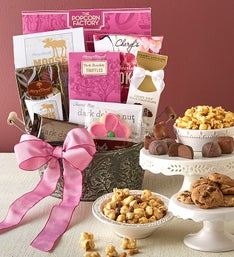 Mother's Day Blooms Sweet Treats Gift Basket