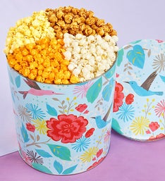 The Popcorn Factory Spring Garden 4 Flavor Tin