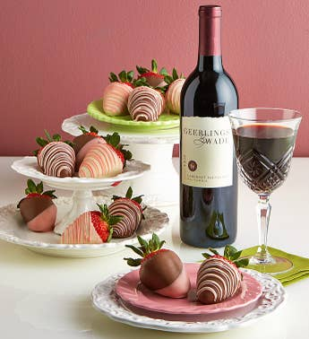 Mother's Day Strawberries & Cabernet Sauvignon Wine