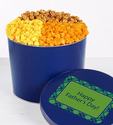 The Popcorn Factory Father's Day 4 Way Tin 2G
