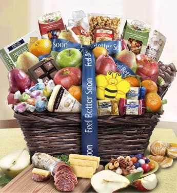Feel Better Fruit & Sweets Gift Basket