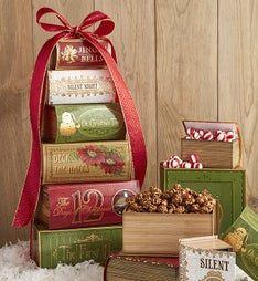 Holiday Treasured Treats Gift Tower