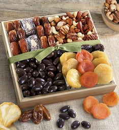 Dried Fruits with Savory  Chocolate Nuts Crate