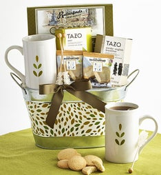 Relax & Nurture Tea Basket featuring Tazo® Teas