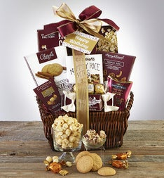 Birthday gift baskets delivery gourmet food 1800flowers happy birthday deluxe balsam gift basket negle Image collections