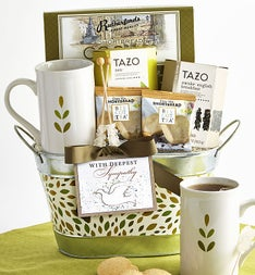 In Sympathy Tea Basket featuring Tazo® Teas
