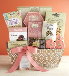 Full Bloom Sweet Treats Gift Basket