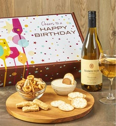 Happy Birthday! White Wine and Gourmet Box