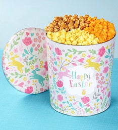 The Popcorn Factory Happy Easter 3 Way Tin