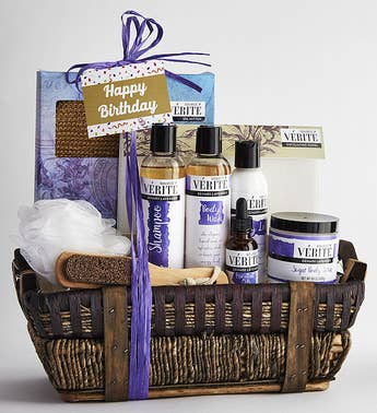 Its Your Birthday Denarii Lavender Spa Basket