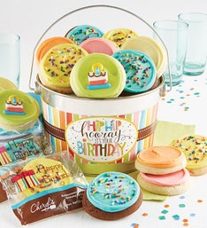 Cheryl's Hip Hip Hooray Birthday Gift Pail