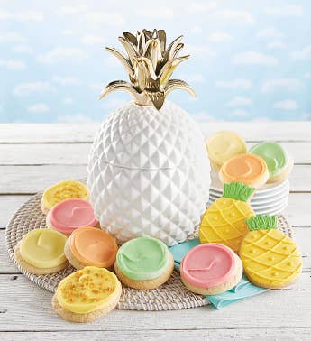 Cheryls Pineapple Ceramic Cookie Jar