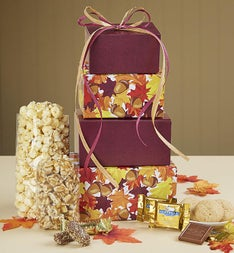 Falling Leaves Sweets & Treats Tower