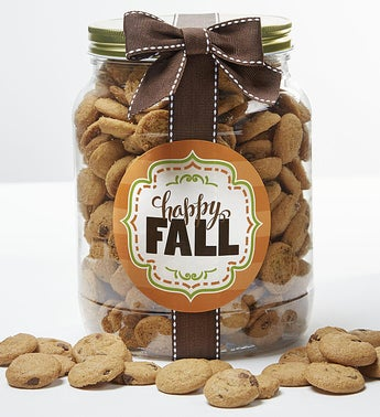 Happy Fall Chocolate Chip Cookie Jar
