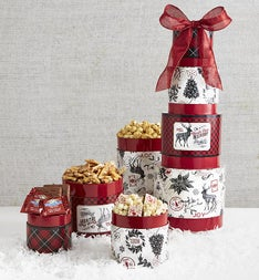 Vintage Christmas Sweets Gift Tower