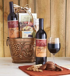 Grapevine Red Wine  Cheese Gift Basket