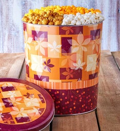 The Popcorn Factory Fall Splendor 4 Way Tin 3.5G