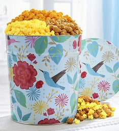 Hummingbird Garden 3 Way Popcorn Tin 35G