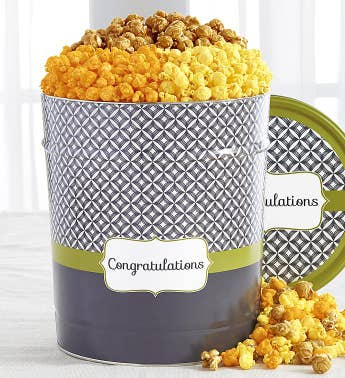 Popcorn Factory Simply Stated Congrats 3 Way Tin