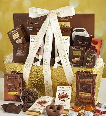 godiva decadence gift basket