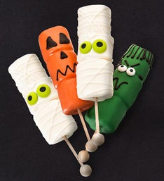 Spooky Scary Hand Dipped Marshmallow Pops