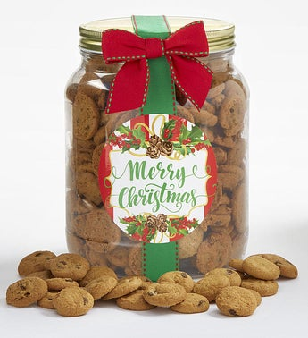 Merry Christmas Chocolate Chip Cookie Jar