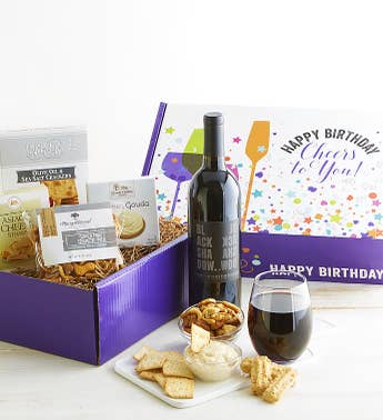 Happy Birthday Red Wine Gourmet Market Box