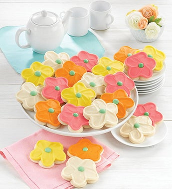 Cheryls Frosted Flower Cut Out Cookies