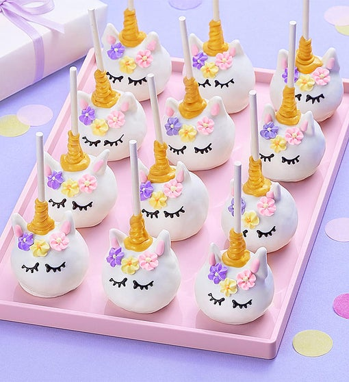 Magical Unicorn Truffle Cake Pops