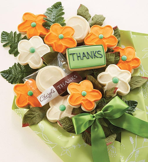 Cheryl's Thanks Long Stem Cookie Flowers