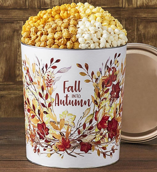 Popcorn Factory Fall into Autumn 3.5G 4-Flavor Tin